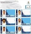 Етикети за тетрадки - ФК Реал Мадрид - Комплект от 18 броя - тетрадка