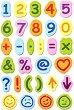 Самозалепващи листчета - Цифри и символи -