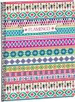 Ученическа тетрадка със спирала - Flamenco : Формат A4 с широки редове - 80 листа -