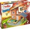 """Вила с гараж - Детски сглобяем модел от истински тухлички от серията """"Teifoc: Professional"""" -"""