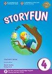 Storyfun - ниво 4: Книга за учителя по английски език : Second Edition - Karen Saxby, Emily Hird -
