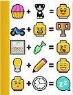 Ученическа тетрадка - LEGO Iconic : Широки редове - Размери 24.7 x 19 cm - 100 листа -