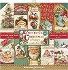 Хартии за скрапбукинг - Коледни картички - Комплект от 10 броя -