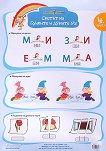 Златно ключе: Учебно табло - Светът на буквите и думите № 1 и № 2 за 4. подготвителна група -