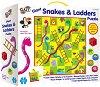 Змии и стълби - Голям пъзел игра от 36 части - игра