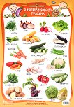 Златно ключе: Учебно табло - В зеленчуковата градина за 1., 2., 3., 4. подготвителна група - помагало