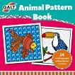 Galt: Животни и шарки - книжка за оцветяване Animal Pattern Book - детска книга