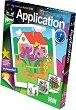 """Създай сам апликация без ножица и лепило - Моите цветя - Творчески комплект от серията """"Aplication"""" -"""