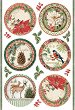 Декупажна хартия - Коледни мотиви - Формат А4 -