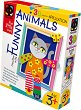 """Създай сам 3D апликация в рамка с пайети - Коте - Творчески комплект от серията """"Funny Animals Aplication"""" -"""