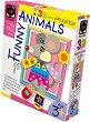 """Създай сам 3D апликация в рамка с пайети - Мишле - Творчески комплект от серията """"Funny Animals Aplication"""" -"""