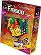 """Създай сам картина с цветен пясък - Малка рибка - Творчески комплект от серията """"Fresco Frame"""" -"""