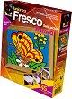 """Създай сам картина с цветен пясък - Пеперуда - Творчески комплект от серията """"Fresco Frame"""" -"""