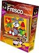 """Създай сам картина с цветен пясък - Весело зайче - Творчески комплект от серията """"Fresco Frame"""" -"""