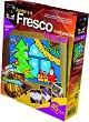 """Създай сам картина с цветен пясък - Коледна елха - Творчески комплект от серията """"Fresco Frame"""" -"""