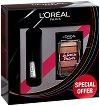 Подаръчен комплект - L'Oreal Unlimited & La Petite Palette - Спирала за мигли и мини палитра сенки за очи -