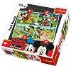 """Игра в парка - 4 пъзела в нестандартна форма от колекцията """"Мики Маус"""" -"""