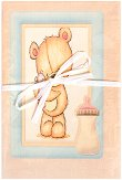 Поздравителна картичка - Мече -