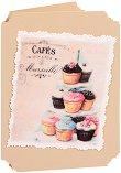 Поздравителна картичка - Кексчета -