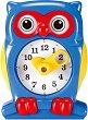 Часовник - Сова - Детска образователна играчка -