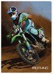 Ученическа тетрадка - Motocross : Формат А4 с широки редове - 40 листа -