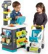 Супермаркет с пазарска количка - Детски игрален комплект с аксесоари -