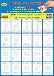 Първите 100 най-важни думи на български и английски език Речник със стикери -
