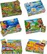 Дървени кубчета - В света на животните - Комплект от 6 части -