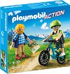 "Планинар и велосипедист - Детски конструктор от серията ""Playmobil - Action"" -"