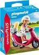"""Момиче с мотопед - Фигура с аксесоари от серията """"Playmobil: Special Plus"""" -"""