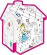 Детска къщичка - Принцеса - Картонен модел за оцветяване -