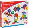 Детски конструктор с нестандартни елементи - Magic Circles - Комплект от 72 елемента -