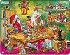 Работилницата на Дядо Коледа - Пъзел в картонена подложка -