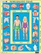 Части на човешкото тяло - Пъзел в картонена подложка -