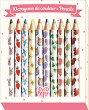Цветни моливи - Айко - Комплект от 10 цвята -