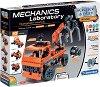 """Лаборатория по механика - Транспортни камиони - Образователен конструктор с 200 части от серията """"Clementoni: Science"""" -"""