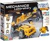 """Лаборатория по механика - Строителни машини - Образователен конструктор с 250 части от серията """"Clementoni: Science"""" -"""