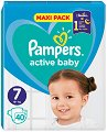 Pampers Active Baby 7 - Пелени за еднократна употреба за деца с тегло над 15+ kg -