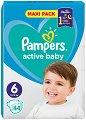 Pampers Active Baby 6 - Пелени за еднократна употреба за бебета с тегло от 13 до 18 kg -