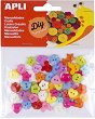 Цветни декоративни копчета - Комплект от 60 броя -