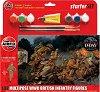 Британски пехотинци - Комплект от 6 фигури  с лепило и боички -