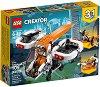 """Безпилотен изследователски машини - 3 в 1 - Детски конструктор от серията """"LEGO Creator Vehicles"""" -"""
