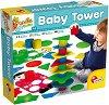 """Кула от геометрични фигури и цилиндъри - Комплект за сортиране и подреждане от серията """"Carotina Baby"""" -"""