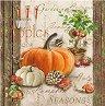 Салфетки за декупаж - Есенни тикви - Пакет от 20 броя -