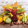 Салфетки за декупаж - Есенни листа с тикви - Пакет от 20 броя -