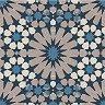 Салфетки за декупаж - Сини орнаменти - Пакет от 20 броя -