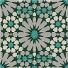 Салфетки за декупаж - Зелени и бели орнаменти - Пакет от 20 броя -