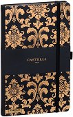 Castelli: Луксозен тефтер с ластик - 13 x 21 cm - книга
