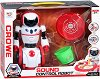Робот - Интерактивна играчка със звуков и светлинен ефект -