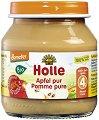 Holle - Био пюре от ябълки - Бурканче от 125 g за бебета над 4 месеца -